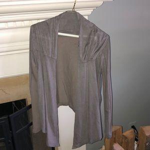 Light Suede Jacket/Cardigan